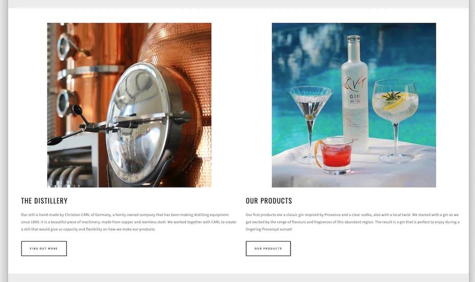قاب های جامد و فضا های سفید در طراحی وب